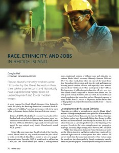 Race, Ethnicity, and Jobs in Rhode Island