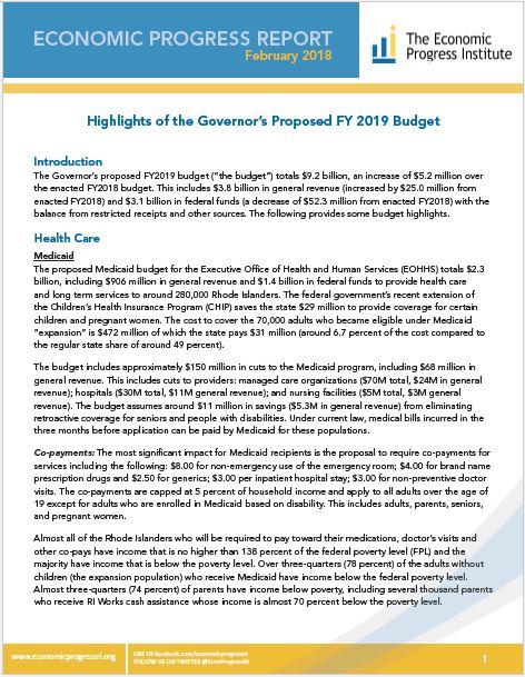 FY2019 budget analysis
